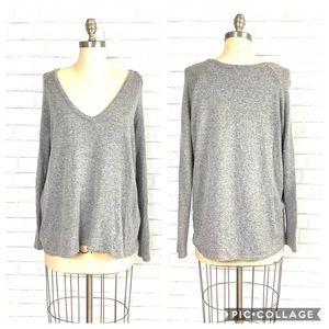 Brandy Melville one size V Neck gray sweater ☕️